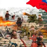 Soldados Exercito Guerra Mundial Canhão Lego Compatível