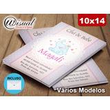 10un - Convite Infantil Chá De Bebê - 7x10cm