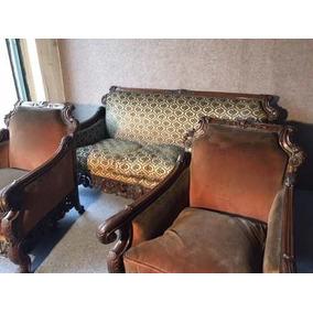 Antiguo Juego De Living Sofa + 2 Sillones