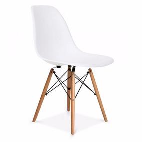 Cadeira Eiffel Charles Eames Plastico Base Madeira