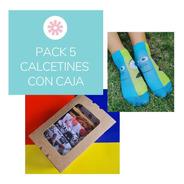 Caja Ecologica Con 5 Pares De Calcetines Divertidos