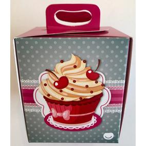 Cajita Caja Porta Cupcakes Individual Mundomatok