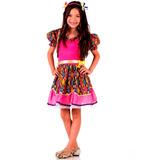 Vestido De Festa Junina Caipira Com Bolero Infantil
