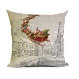 Almofada Papai Noel Natal Decoração Enfeite 45 X 45 - Oferta