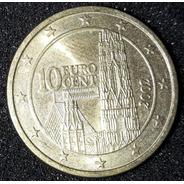 Moeda 10 Cêntimos De Euro Ano 2002 Austria