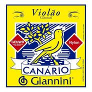 Encordoamento De Violão Canário - Giannini - Nylon C/bolinha