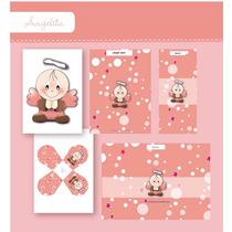 Kit Imprimible De Bautismo - Angelito Para Nena