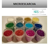 Kit De 12 Glittes Escarchas De Colores Para Polvos Para Uñas