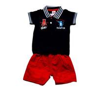 Camisa Polo Masculina E Bermuda Infantil - Brandili