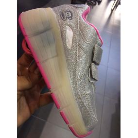 Zapatos Paul Frank Con Luces Y Ruedas 165001b Silver