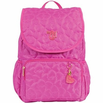 Mochila Com Tampa Capricho Love Pink 48903 Rosa