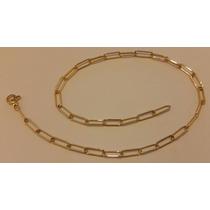 Cordão Corrente Ouro Cartier 18k Barata Linda 6,7g Pwt