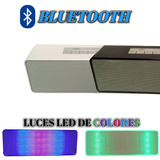 Bocina Recargable Bluetooth Portatil Luces Led De Colores Fm