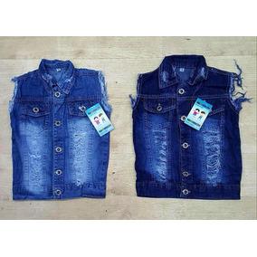 Colete Jeans Infantil Masculino Menino Promoção Tipo Jaqueta