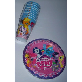 Platos Vasos Globos Dulceros Fiesta My Little Pony