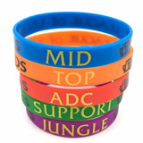 Pulseiras Lol League Of Legends Lanes Silicone Riot