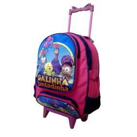 Mochila Escolar Infantil Rodinha Galinha Pintadinha