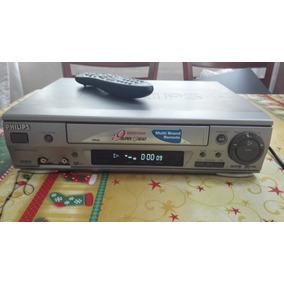 Video Cassete Philips Vr599 4 Cabeças Com Controle Remoto