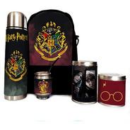 Equipo De Mate Completo Harry Potter Cuero Set Kit Matero
