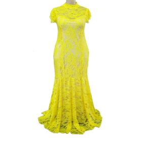 Vestido Amarelo - Casamento Plus Size Do 44 Ao 54