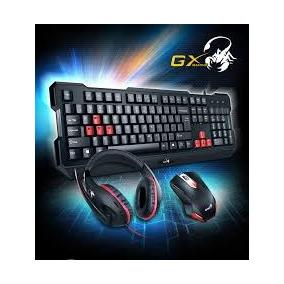 Combo Gamer Genius Gx Kmh 200 Teclado + Mouse + Auricular