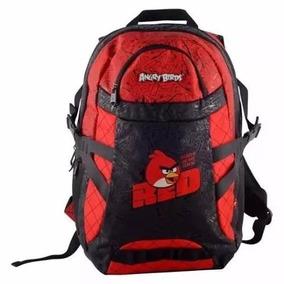 Mochila Notebook Escolar Angry Birds Red Vermelha