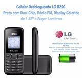 Celular Lg B220, 2 Chips Com Rádio Fm E Lanterna Original