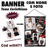 Banner Personalizado Corinthians Timão Futebol Will471
