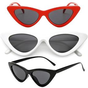 8010823cbdb8c Oculos Retro Gatinho Branco - Óculos De Sol no Mercado Livre Brasil