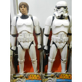 Star Wars Muñecos Stormtrooper Y Luke Skywalker 79 Cm Disney