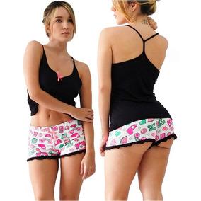 Pijamas Piyamas Cortas Dama Mujer Short Cachetero Praie P009