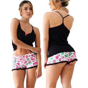 Pijamas Piyamas Dama Mujer Shorts Cachetero Baby Dolls