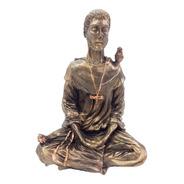 Imagem Sao Francisco De Assis Meditando Em Resina Dourado
