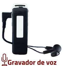 Gravador De Voz Escuta Espia Grava Aula Mini Pendrive Espião