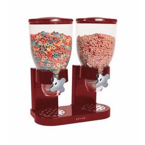 Despachador Doble Cereal, Dulces, Botanas, 2 Depósitos Zevro