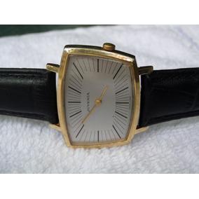 Reloj Juvenia Asimetrico Cuerda Lamina Oro /acero Coleccion