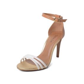 Sandália Salto Fino Caramelo - Stella Zac