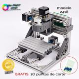 Máquina Cnc 2418 Router 24x18x4.5 Cm Fresado Grabado Y Corte