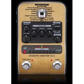 Pedal Zoom Ac-2 Para Violão Pedaleira Ac-2 Acoustic Creator