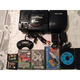 Consola Sega Cd Completa Con Sega Genesis