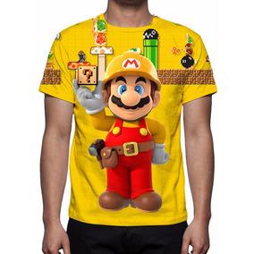 Camisa, Camiseta Nintendo Super Mario Maker - Frete Grátis