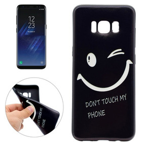 Galaxy S8 No Toca Mi Teléfono Sonriente Cara Modelo Suave T