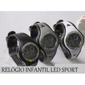 Relógio Infantil Led China Sport - Somente Preto Em Estoque
