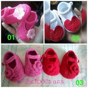 Zapatos O Zapatillas Para Bebes Tejidos A Crochet