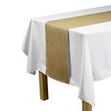 Linentablecloth Yute Corredor De La Tabla Con La Franja De