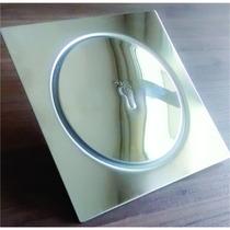 Kit C/ 3 Un Ralo Inteligente P/ Piso Em Inox - Click 15x15cm