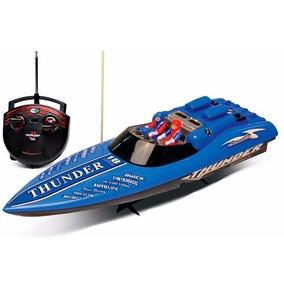 Lancha Corrida Radio Controle Aqua Thunder Azul - Dtc