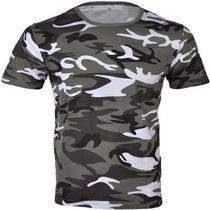 Remera Camiseta Tactica Camuflada Urbano Blanco Y Negro