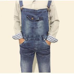Macacão Jeans Adulto Jeans Masculino Frete Gratis