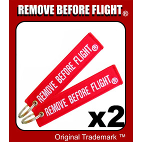 2 Llaveros Remove Before Flight ® Combo